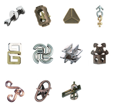 Huzzle Hanayama Cast Metal 3D puzzles Difficulty Level 3 Normal New Arrows