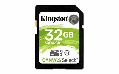 Kingston Canvas Select 32GB SD Card UHS-1 Class 10