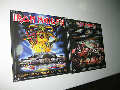 Iron Maiden 2 Cd  Accorhotels Arena Paris 5/07/2018 Sealed