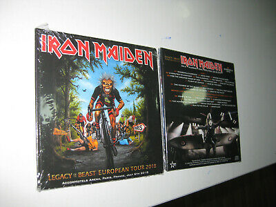 Iron Maiden 2 Cd  Accorhotels Arena Paris 6/07/2018 Sealed