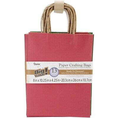 "Paper Bags 8""x10.25""x4.25"" 13/pkg-assorted Christmas"