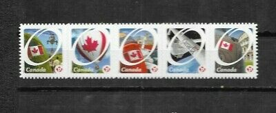 pk41768:Stamps-Canada #2423i Canadian Pride 'P' Rate Definitive Strip of 5 - MNH