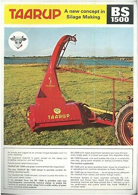 Taarup Forage Harvester BS1500 'A new concept in Silage Making' Brochure