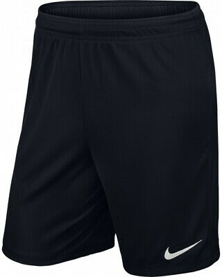Nike Park Knit Junior Boys Football Shorts Black Match Training Teamwear Medium