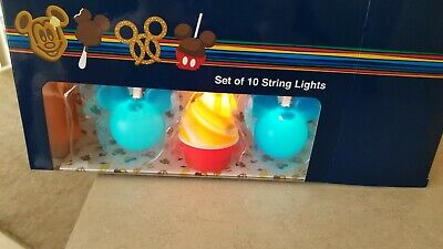 Disney Theme Parks Food Icon Snack String Light Set-10 Light up Icons Dole Whip