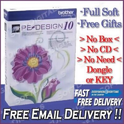 Brother PE Design 10 Embroidery Full Software & Free Gifts Instant Delivery 30s
