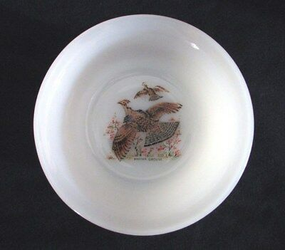 """FIRE KING Oven Ware RUFFLED GROUSE Bowls, 4 3/4"""", Set of 2 Vintage"""