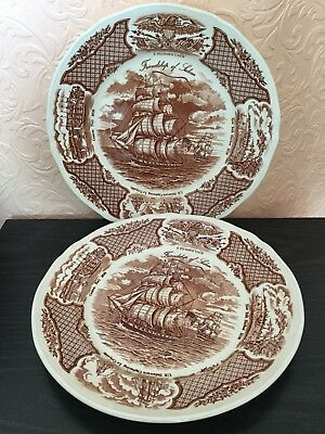 Alfred Meakin Friendship Of Salem Matching Pair Collectors Plates