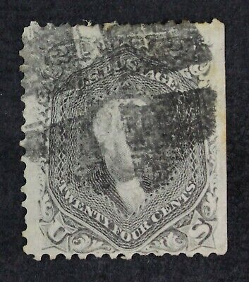 CKStamps: US Stamps Collection Scott#78a 24c Washington Used Tiny Tear