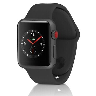 Apple Watch Series 3(GPS+Cellular) 38MM Aluminum Case & Sport Band - Space Gray