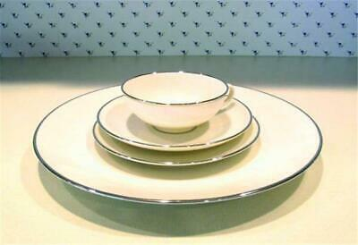 """Franciscan """"Platinum Band"""" 4 pc Place Setting  Dinner  Bread/Butter Cup Saucer"""