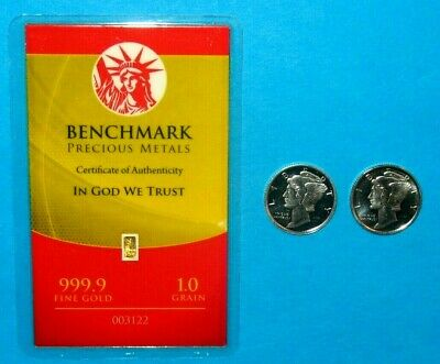 1/15 Gram 999 Fine 24K Gold Benchmark Bar & 2 1/10 Oz Apmex 999 Silver Rounds!