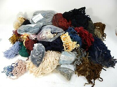HUGE LOT Red Green White Blue Patterns MIXED Primitive Rug Hook Hooking Wool