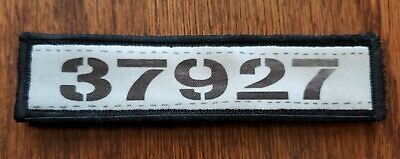 Shawshank Andy's Prisoner Number Morale Patch Military Tactical Army USA Flag