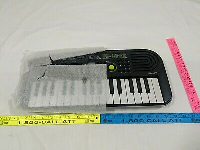 Best Casio SA-47 Electronic Keyboard Black BRAND NEW synthesizer organ piano