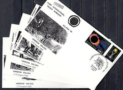 Romania, 1999 issue. 05-11/AUG/99. Scout Camp International, 5 Cachet covers