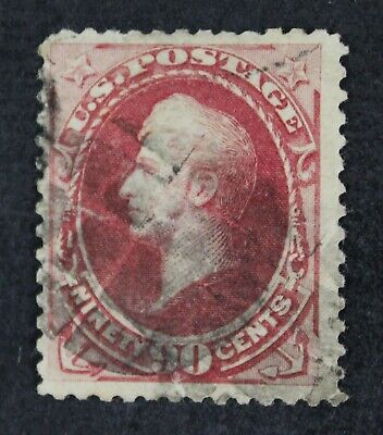 CKStamps: US Stamps Collection Scott#191 90c Perry Used Tear Crease CV$360