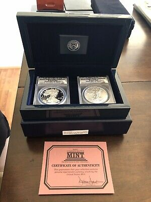 2016 W American Silver Eagle Proof Set ANACS Certified PR 70 SP 70 First Day