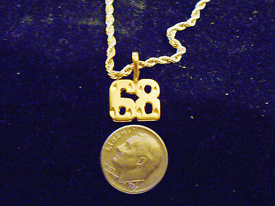 bling gold plated game fashion number 68 pendant charm hip hop necklace JEWELRY