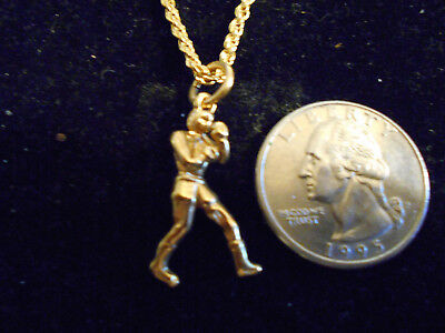 bling gold plated boxer fighter FASHION JEWELRY pendant charm hip hop necklace