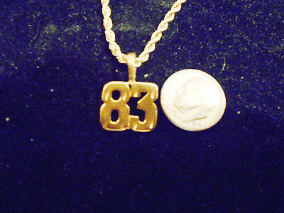 bling gold plated sports PLAYER number 83 pendant charm hip hop necklace JEWELRY