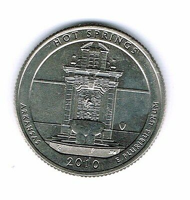 2010-P Brilliant Uncirculated Hot Springs National Park Quarter Coin!