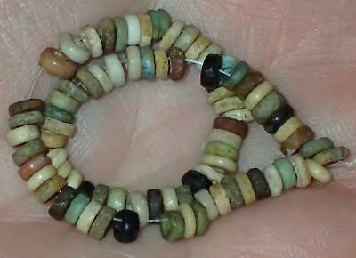 75 Ancient Egyptian Faience Mummy Beads, 3.5-4.5mm, 3000+Years Old, #S10
