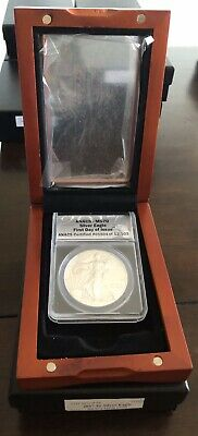 2017 American Silver Eagle ANACS Certified MS 70 First Day Of Issue Box