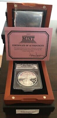 2016 W American Silver Eagle Proof ANACS Certified PR 70 First Day Of Issue