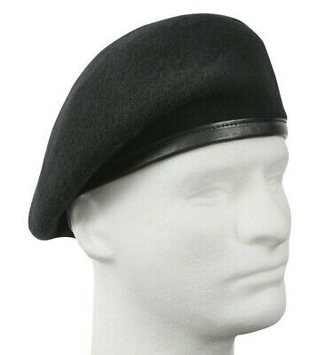ROTHCO MILITARY WOOL Beret Inspection Ready Pre-Shaved Badge