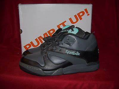 Reebok Court Victory PUMP CHANG Tennis Shoes Black Tar Blue Size 8 US NIB! f7fdb781b
