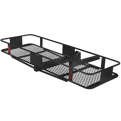 """60"""" Steel Hitch Mount Cargo Carrier Luggage Basket Rack for SUV/Truck/Car 500lbs"""