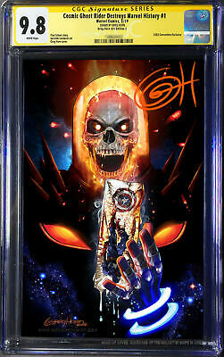 Cosmic Ghost Rider Destroys Marvel History # 1 CGC 9.8 SS Signed by Greg Horn C