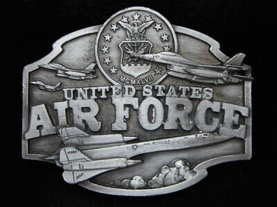 Pe09111 Vintage 1987 **United States Air Force** Military Pewter Siskiyou Buckle