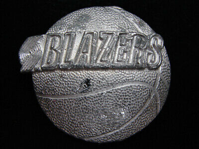 Pe11158 Vintage 1992 *Blazers* Nba Basketball Sports Commemorative Belt Buckle
