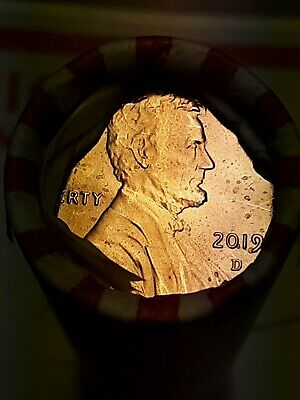 2019 - D lincoln penny roll.... heads / tails roll.... ready to ship.....