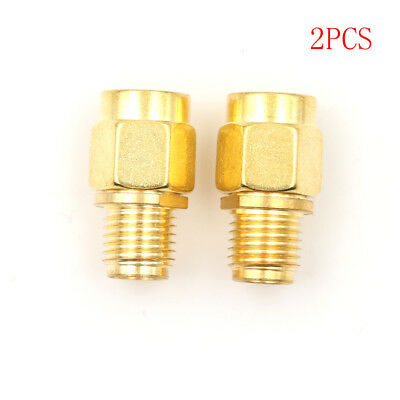 2 Pieces RF SMA Connector RP SMA Female to SMA Male Plug Connector Adapter EC