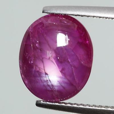 7.36 Cts GRS CERTIFIED 100% Natural Red Color Cabochon Unheated Borma Star Ruby