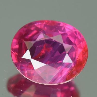 VIVID PINK RED 1.21Cts AIGS CERTIFIED 100% Natural Unheated Mozambique Ruby