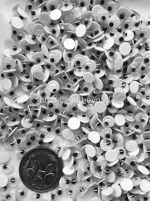 BB TINY GOOGLE EYES self adhesive 5mm pk of 50 craft movable eye wiggly googly