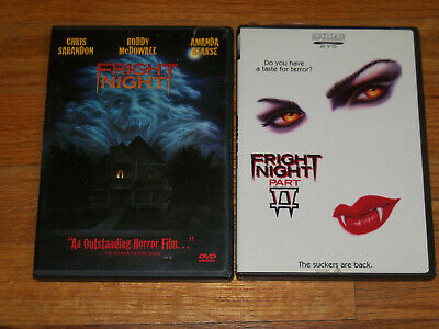 Fright Night Parts 1 & 2 DVD Lot roddy mcdowall chris sarandon william ragsdale