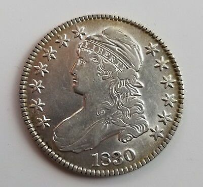Attractive 1830 Silver Capped Bust Half Dollar Grading Au S111