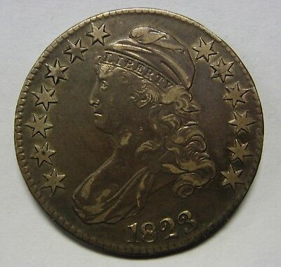 Attractive 1823 Silver Capped Bust Half Dollar O-103 Grading AU  G9622