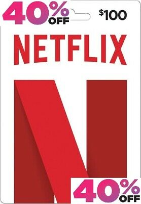 Netflix Gift Card US | $100 | 40% OFF | EMAIL DELIVERY | FAST | CHEAPEST