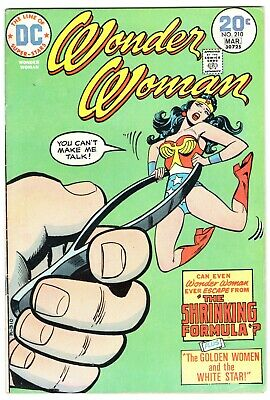 Wonder Woman #210 Shrinking Formula Dc Comics 1974 Fn+