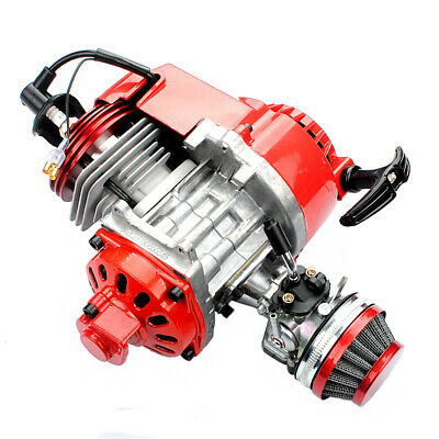 Red 49cc 2 stroke Engine Motor Mini Pocket Quad Dirt Bike ATV Children's car