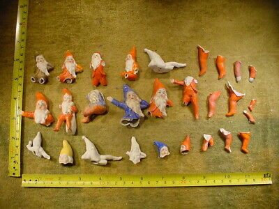 28 x excavated vintage victorian dwarf doll parts Germany Hertwig age 1890 B 11