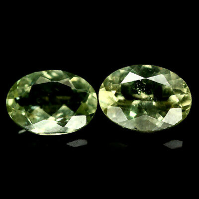 1.56 Ct Natural Pair Green Apatite Madagascar Oval