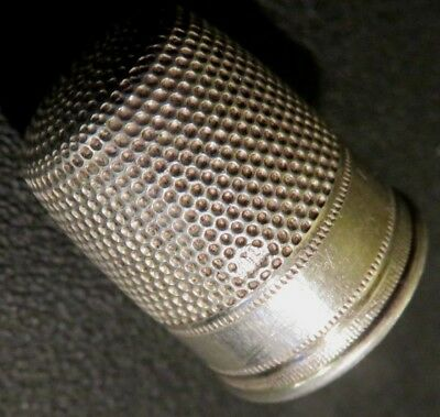 Fingerhut Silber 800 silver thimble traditionelles Muster traditional pattern