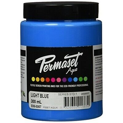 Permaset Aqua 300ml Fabric Printing Ink - Light Blue - Screen